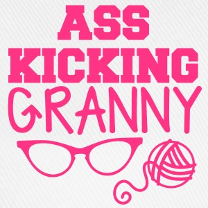 Ass kicking GRANNY with glasses and wool T-Shirts - Baseball Cap