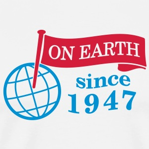 flag on earth since 1947  2c (sv) Tröjor - Premium-T-shirt herr