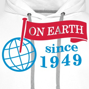 flag on earth since 1949  2c (it) Maglie a manica lunga - Felpa con cappuccio premium da uomo