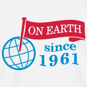 flag on earth since 1961  2c (es) Camisetas de manga larga - Camiseta premium hombre