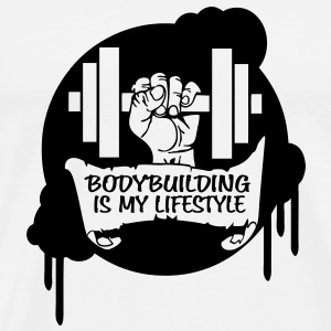 Bodybuilding is my Lifestyle Drips Direct Bottles & Mugs - Men's Premium T-Shirt