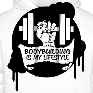 Bodybuilding is my Lifestyle Drips Direct T-Shirts - Men's Premium Hoodie
