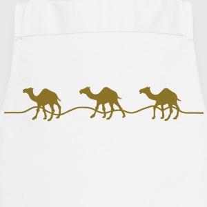 3 camels / dromedaries in the desert Shirts - Cooking Apron
