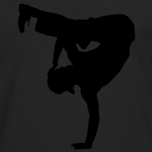 Breakdancer Orange - Männer Premium Langarmshirt