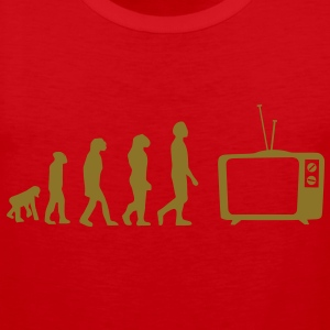 Evolution TV, TV, sofa, couch, flat screen TV, tube T-Shirts - Men's Premium Tank Top