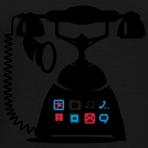 An antique telephone with different applications Umbrellas - Men's Premium T-Shirt