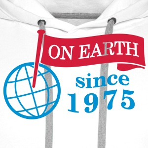 flag on earth since 1975  2c (fr) Tabliers - Sweat-shirt à capuche Premium pour hommes