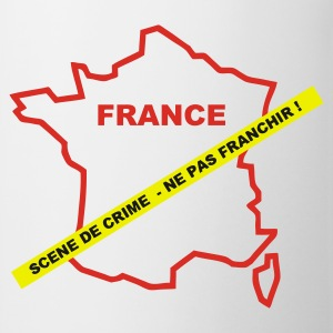 Blanc france_crime Badges - Tasse