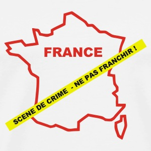 Blanc france_crime Badges - T-shirt Premium Homme