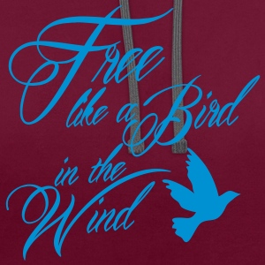 free like a bird in the wind Taschen - Kontrast-Hoodie