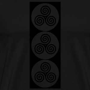 Neolithic standing stone Bags  - Men's Premium T-Shirt