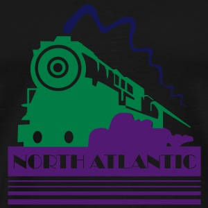 North Atlantic Steam Railway - three colour vector Bags  - Men's Premium T-Shirt