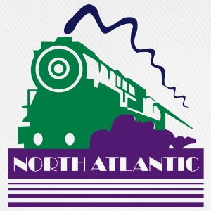 North Atlantic Steam Railway - three colour vector Bags  - Baseball Cap
