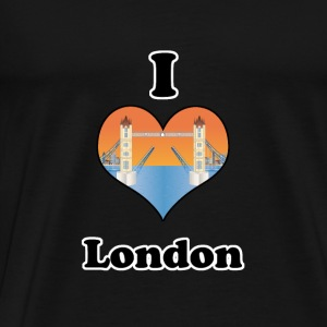 I love London-open tower bridge at sundown Tröjor - Premium-T-shirt herr