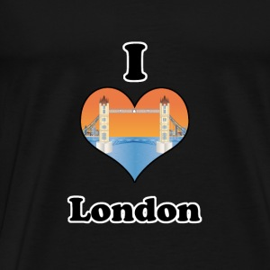 I love London-tower bridge at sundown Sweatshirts - Herre premium T-shirt
