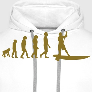 Evolution Sup, Sup, standing paddling, surfing, surfing Supen, Stand up paddle surfing T-shirts - Men's Premium Hoodie