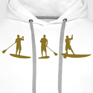 Sup, standing paddling, surfing, surfing, Supen, Stand up paddle surfing T-shirts - Men's Premium Hoodie