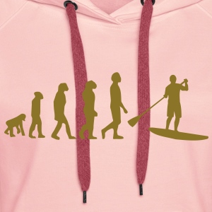 Evolution, Sup, standing paddling, surfing, surfing Supen, Stand up paddle surfing T-shirts - Women's Premium Hoodie