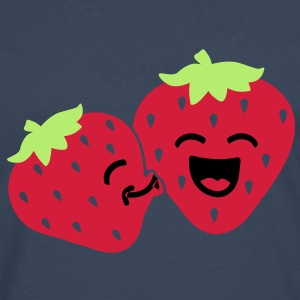 strawberry kiss Camisetas - Camiseta de manga larga premium hombre