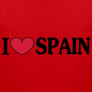 i love spain -  T-Shirts - Men's Premium Tank Top