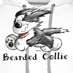 Bearded Collie  T-Shirts - Men's Premium Hoodie