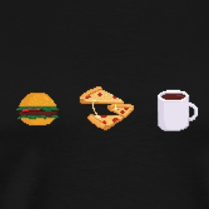 Pixel geeky food Bags  - Men's Premium T-Shirt