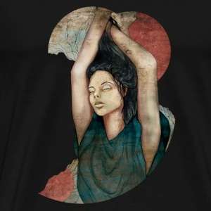 Romaine Dust by carographic @ black Jute Beutel - Männer Premium T-Shirt