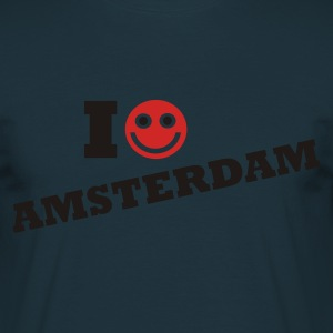 Navy i love amsterdam Sweaters - Mannen T-shirt
