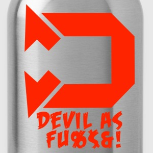Devil as f*ck red - Water Bottle