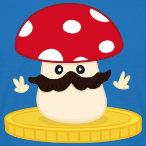 Mushroom with a moustache Bags  - Men's T-Shirt