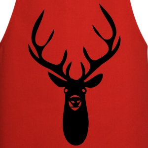 stag antler head - Cooking Apron
