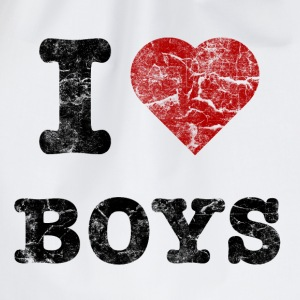 i love boys vintage dark Sweaters - Gymtas