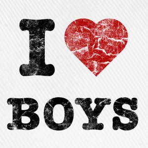 i love boys vintage dark Sweaters - Baseballcap