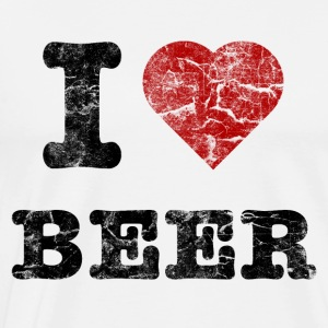 i_love_beer_vintage_dark Long sleeve shirts - Men's Premium T-Shirt
