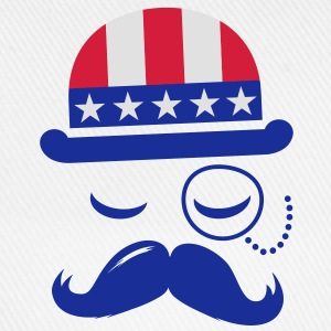 I love heart fashionable American vintage Sir with moustache USA flag hat for sports championship pride & election vote America t-shirts Kids' Shirts - Baseball Cap