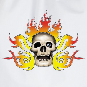 skull and flames - Sac de sport léger
