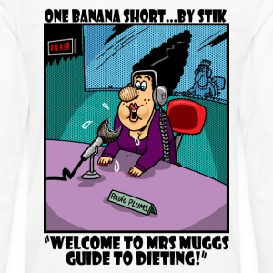 White Mrs Muggs Diet Show Men's Tees - Men's Premium Longsleeve Shirt
