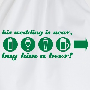 vrijgezellenfeest buy him a beer right T-shirts - Gymtas