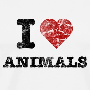 i_love_animals_vintage Badges - T-shirt Premium Homme