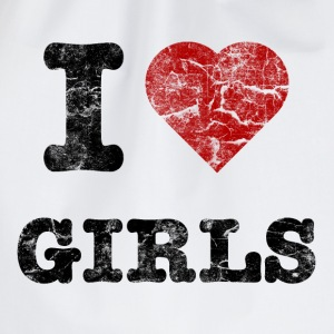 i love girls vintage dark T-skjorter - Gymbag