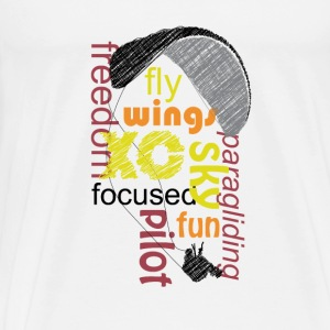 Paraglider Wordcloud Hoodies & Sweatshirts - Men's Premium T-Shirt