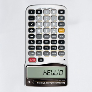 Hello calculator - Drawstring Bag