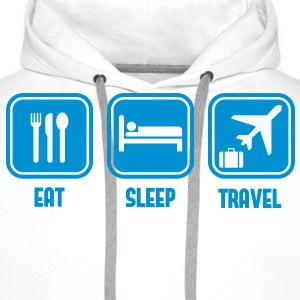 Eat Sleep travel - Men's Premium Hoodie