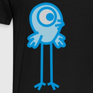 Long-Legged Cartoon  Bird by Cheerful Madness!! Kids' Tops - Men's Premium T-Shirt