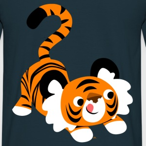 En sød tegneserie tiger parat til at angribe! af Cheerful Madness!! Sweatshirts - Herre-T-shirt