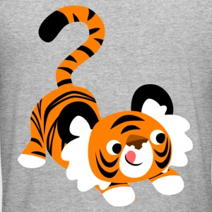 En sød tegneserie tiger parat til at angribe! af Cheerful Madness!! Sweatshirts - Herre Slim Fit T-Shirt
