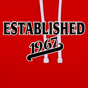 Established 1967 T-Shirts - Kontrast-Hoodie