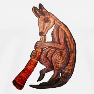 Didgeridoo Kangaroo Caps & Hats - Men's Premium T-Shirt