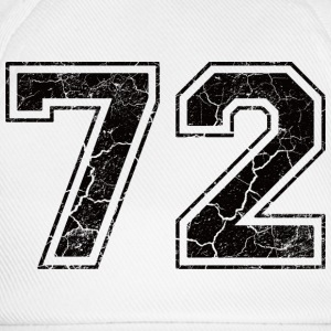 Number 72 in the grunge look Camisetas - Gorra béisbol