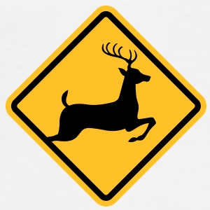 Deer Sign (2c)++ Vesker - Premium T-skjorte for menn